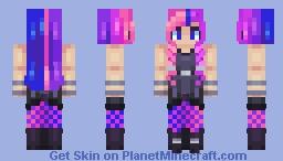 the future is neon ~~ Minecraft Skin