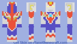 Ultraman Cosmos Future Mode Minecraft Skin