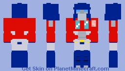 The Original g1 Optimus Prime Minecraft Skin