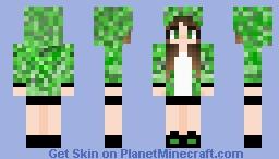Skin de Creeper Minecraft Skin