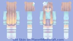 diamonds fall like rain - st with stxrrynight (on skindex) Minecraft Skin