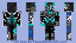 Corrupted soul wither skeleton knight Minecraft Skin