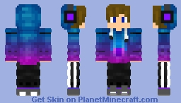 Galaxy gamer Minecraft Skin