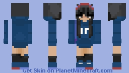 Quakity but he's a girl🐥 Minecraft Skin