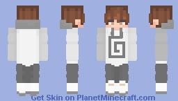 karl jacobs (white clothing) Minecraft Skin