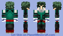 _-xX>Izuku Midoriya Minecraft Skin