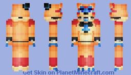 GlamRock Freddy Minecraft Skin