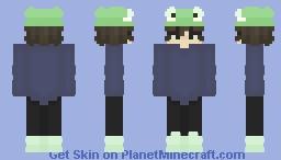 Froggie hat with blu sweater Minecraft Skin