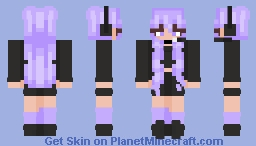 Lavender Kawaii Gamer eGirl Minecraft Skin