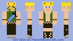 Kings son fallen kingdom with diamond sword Minecraft Skin