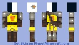Roman Knight (Black and White head) Minecraft Skin