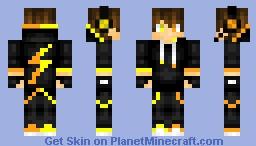 ORANGE yellow gamer Minecraft Skin