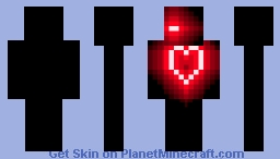 Neon Heart Minecraft Skin