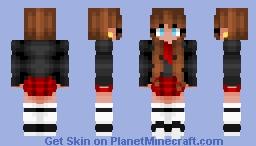 Brunette School Girl Minecraft Skin