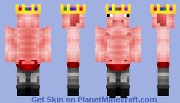 Technoblade but Shirtless Minecraft Skin