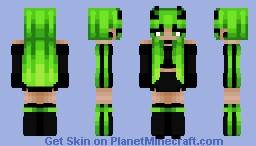 M0nster Energy Girl Minecraft Skin