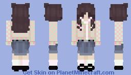 pink+green cardigan Minecraft Skin