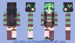 Radioactive hearts Minecraft Skin