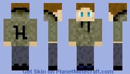 Hoodie Male Green Minecraft Skin