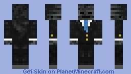 Wither skeleton in a suit Minecraft Skin