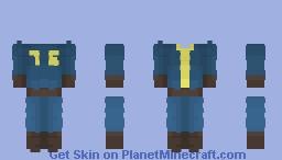 Fallout 76 - Vault 76 Jumpsuit Template Minecraft Skin