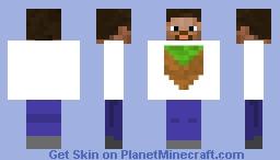 Steve on outside herobrine on outside Minecraft Skin