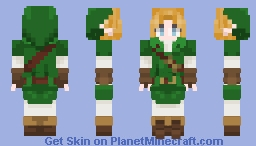 Young Link (OOT/MJM) Minecraft Skin