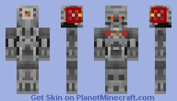 The Computer Endoskeleton (Command Machine) Terminator The Computer wore Tennis shoes Minecraft Skin