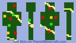 Trashy Christmas Tree Minecraft Skin