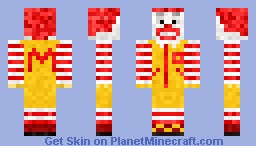 Ronald Macdonald ( 3D hairs ) Minecraft Skin