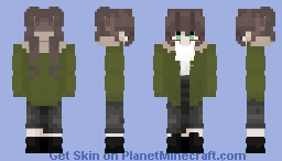 Natalie Oulette (Clockwork).-Before She Killed, Or Put The Clock in Her eye)-(After her Breakup And Putting The Stitching on the sides of her mouth) Minecraft Skin