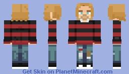 Kurt Cobain | NIRVANA | 1993, New York, Roseland Ballroom Minecraft Skin
