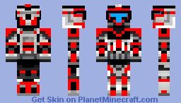 301st clone scout commander Minecraft Skin