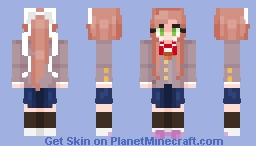 Monika [Doki Dok Literature Club] (5/5 Skins) Minecraft Skin