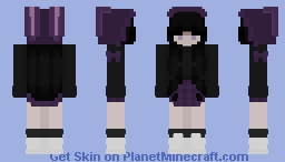 bunny hood girl Minecraft Skin