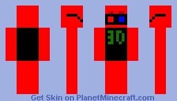 3D Man Minecraft Skin