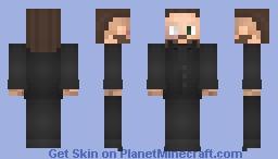 TIGHTZ   Malakai Black [Suit]   AEW Minecraft Skin