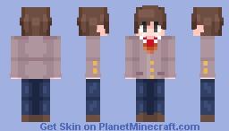 Doki Doki Literature Club Plus [Protaginist Concept] Minecraft Skin
