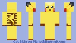pikachu pokemon Minecraft Skin