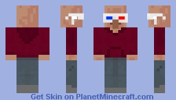 3D Glasses Hoodie Villager Minecraft Skin