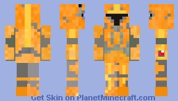 Mandalorian Orange - star wars Minecraft Skin