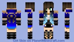 Blue gorl Minecraft Skin