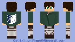 Shingeki no Kyojin - Attack on Titan Minecraft Skin