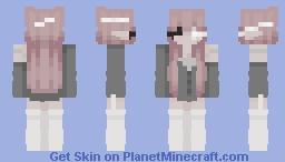 ¸.*♡*.¸ (EMO) Pink hair cutie Minecraft Skin