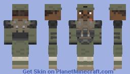 Halo unsc sergeant Johnson Minecraft Skin