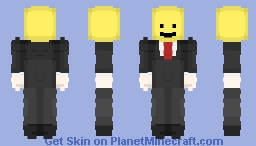 The man with the lego head Minecraft Skin
