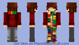 DR WHO The 4th Doctor (Season 12 Variant #2) Minecraft Skin