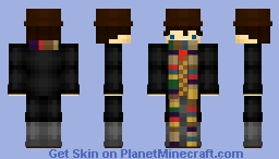 DR WHO The 4th Doctor (Season 13 Variant) Minecraft Skin