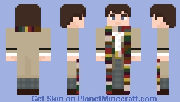 """The Fourth Doctor - in """"City of Death"""" Minecraft Skin"""