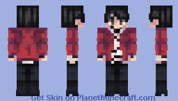 Jungkook - BTS - Fake Love Minecraft Skin